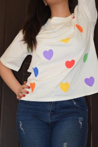 تیشرت دخترانه طرح قلب